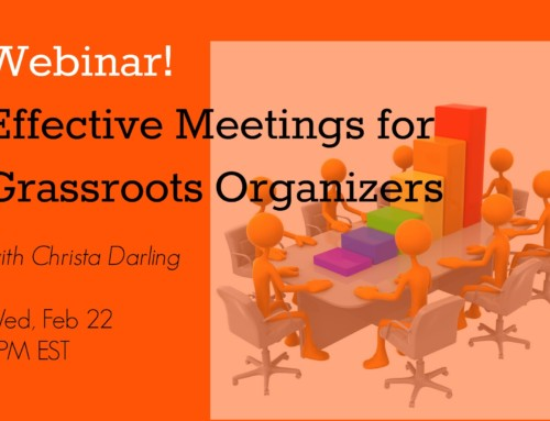 Webinar: How to Run Meetings for Grassroots Organizers!