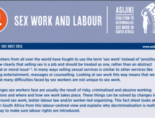 Fact Sheet: Sex Work and Labour